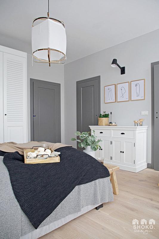 škandinávsky štýl v spálni
