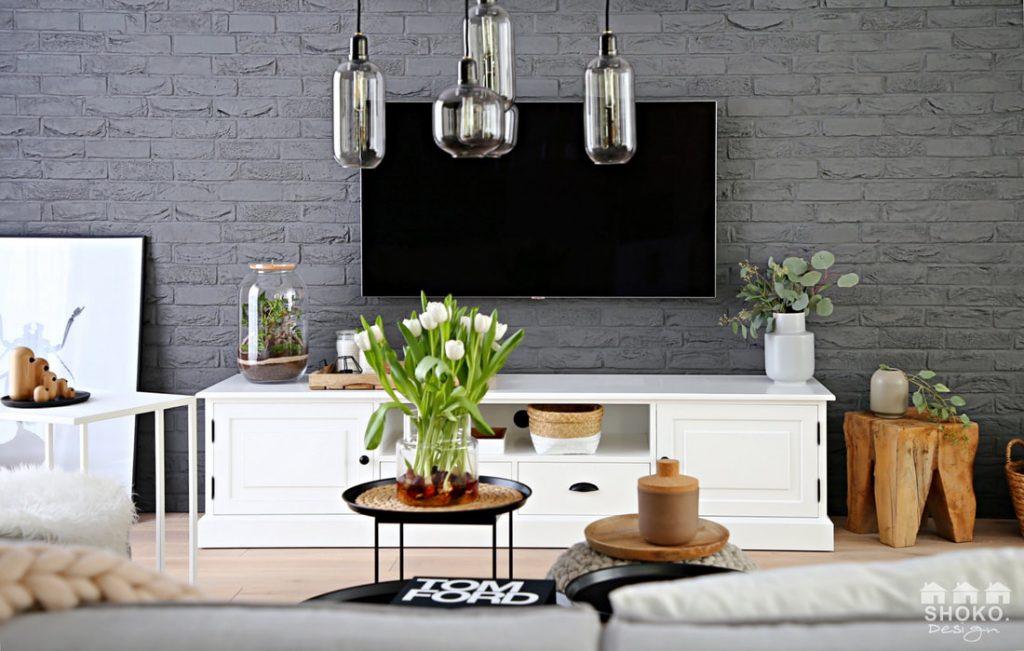 Skandinávský styl v obývacím pokoji