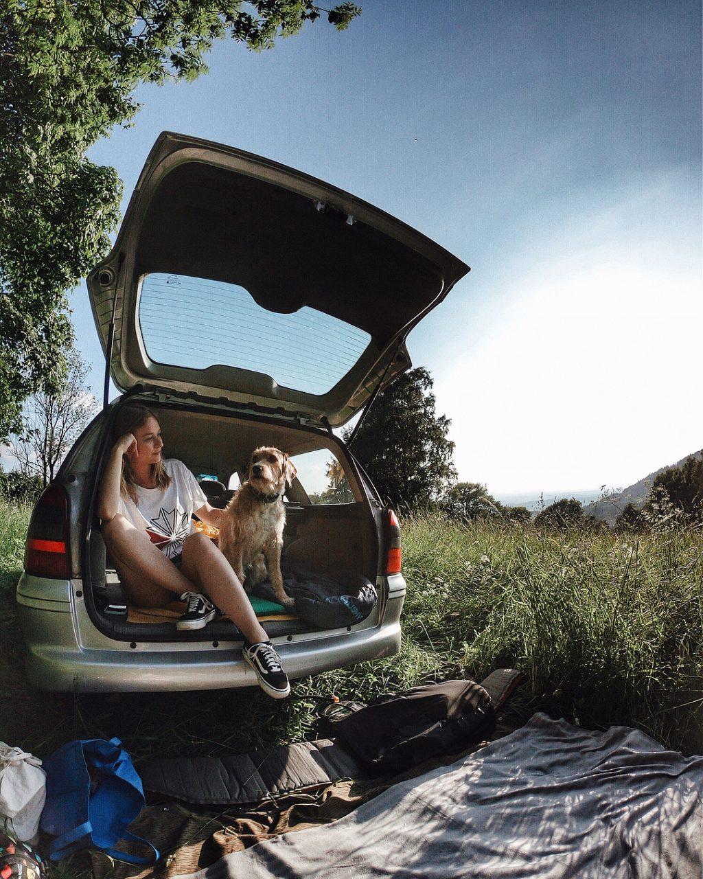 Blogerka Terezen na výletě v horách