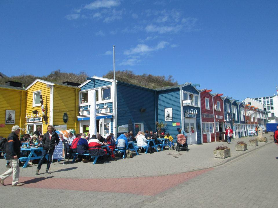 Barevné domečky na Helgolandu jsou odrazem skandinávského vlivu