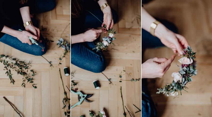 Postup výroby květinového věnce