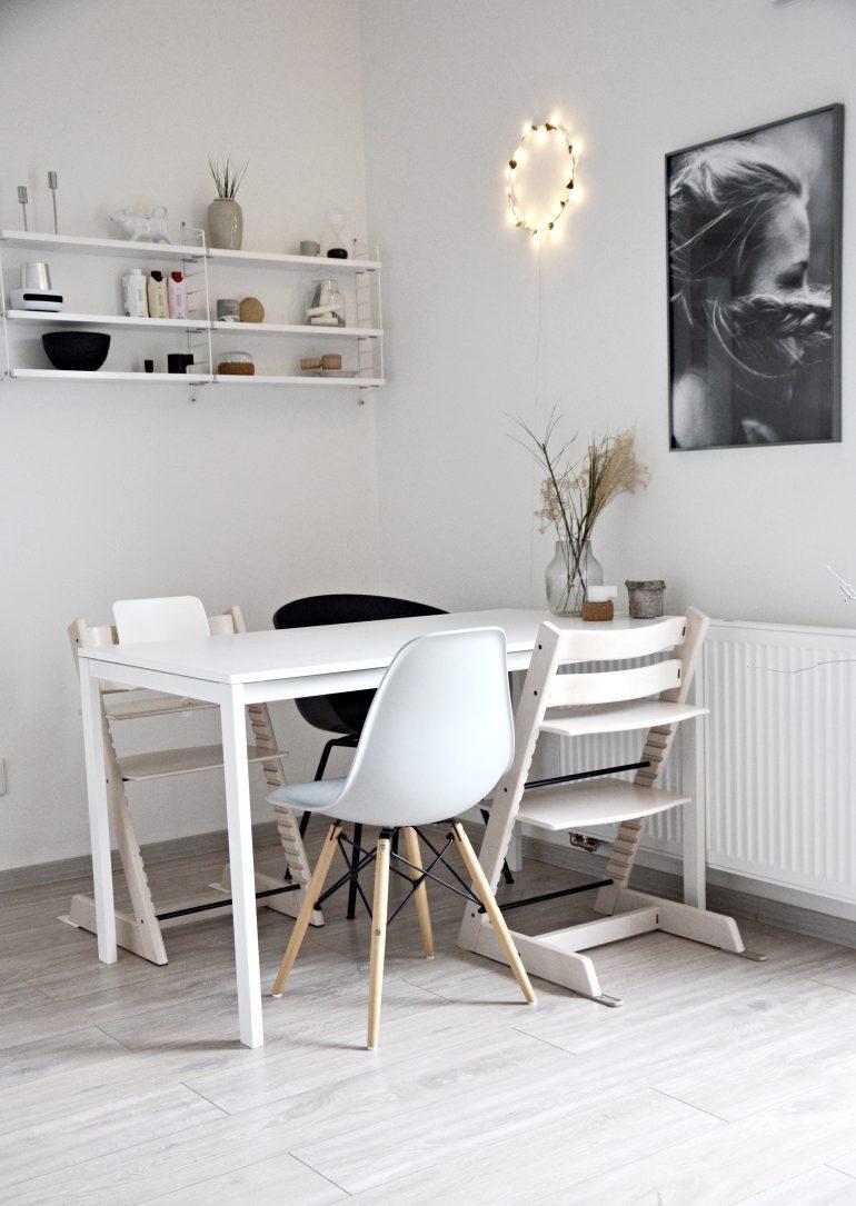 jídelní koutek ve skandinávském stylu