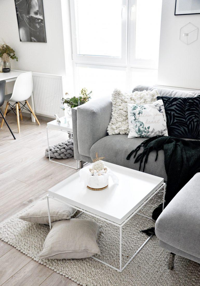 obývací pokoj v bílé