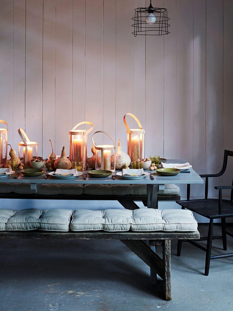 Jesenné dekorácie na stôl.