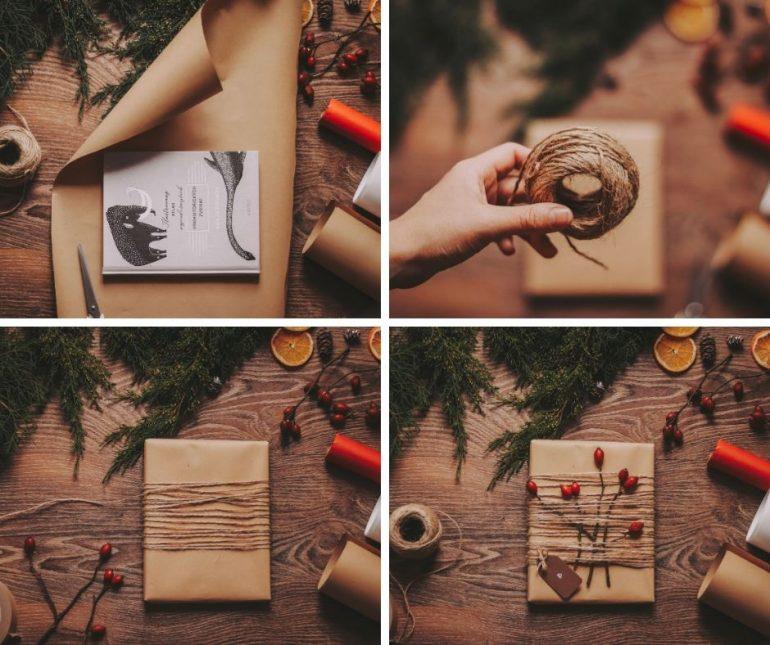 postup balení dárků