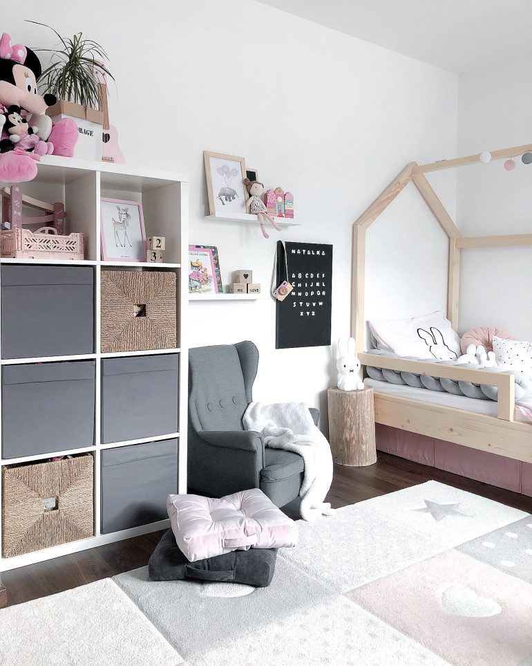 dětský pokojíček ve skandinávském stylu