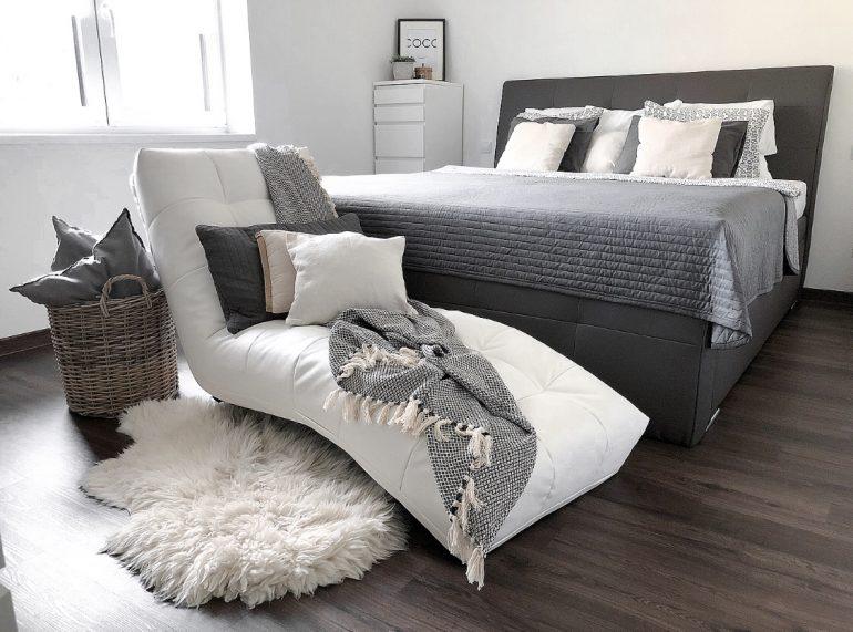 skandinávský styl ložnice