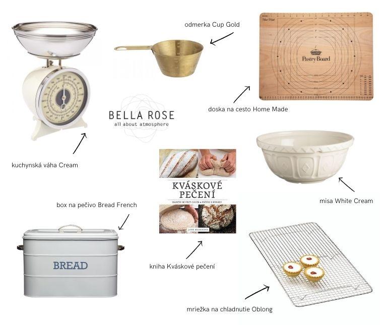 potreby na pečenie chleba