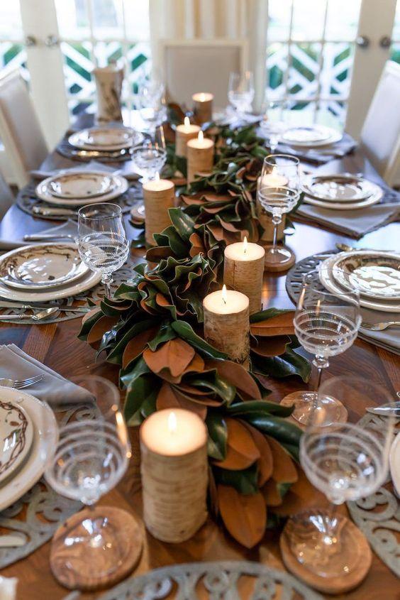 podzimně prostřený stůl