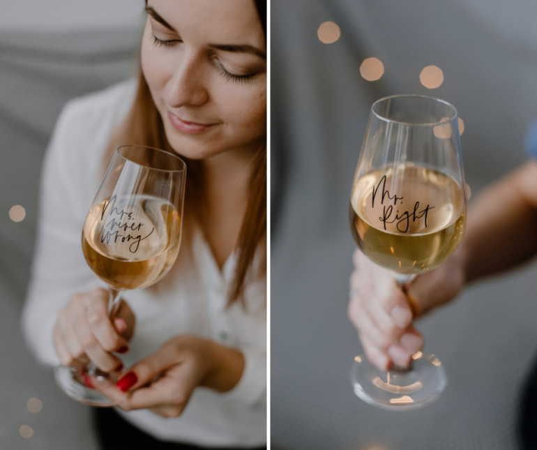 sklenice na víno pro páry