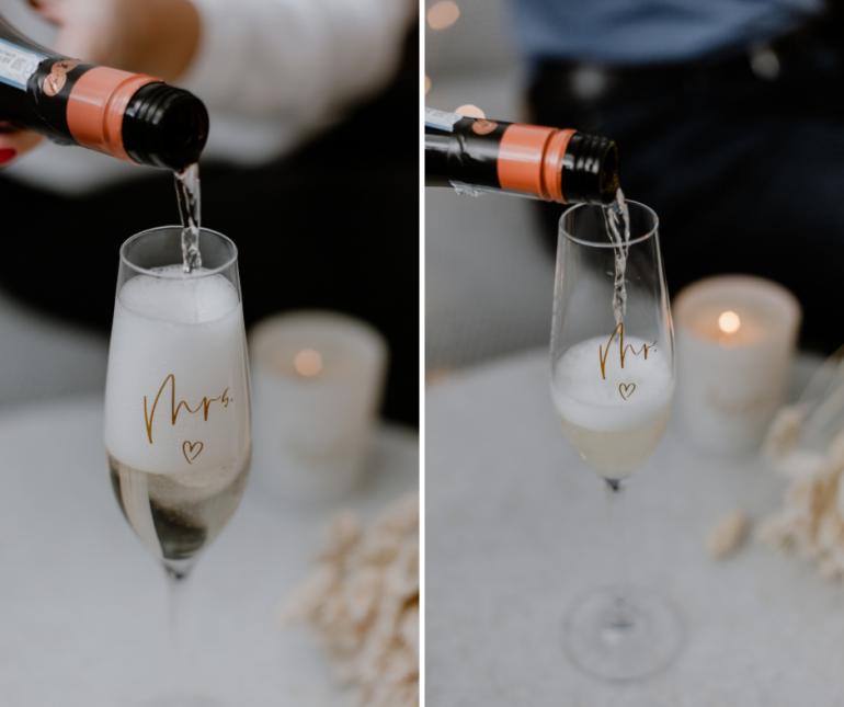 sklenice s nápisy jako svatební dar