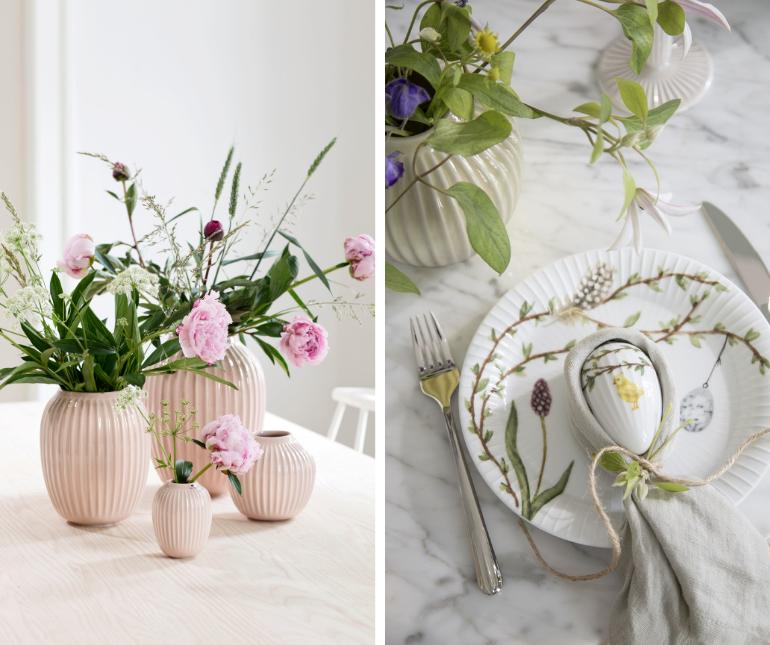 porcelánové velikonoční dekorace