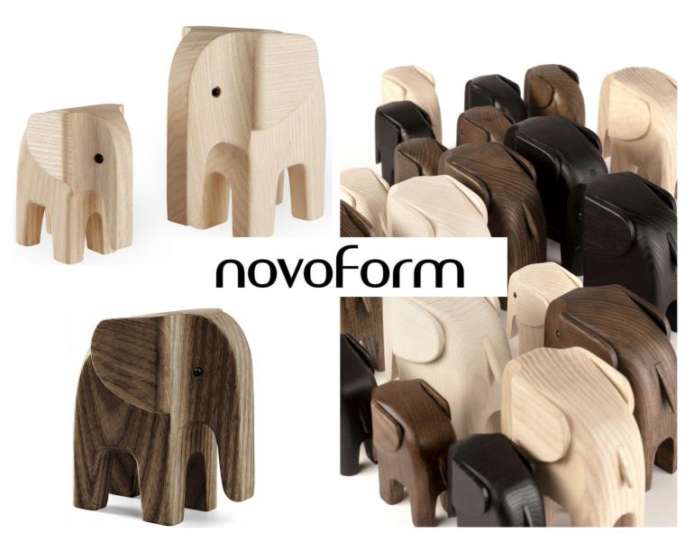 nové značky - dřevěný slon Elephant Natural Ash