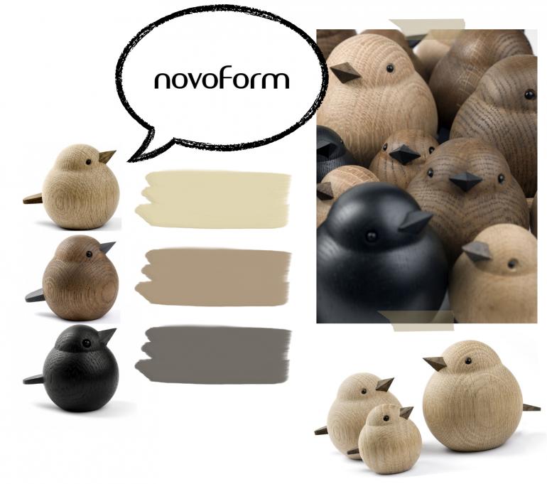 nové značky - Dřevěný ptáček Baby Sparrow Natural Oak